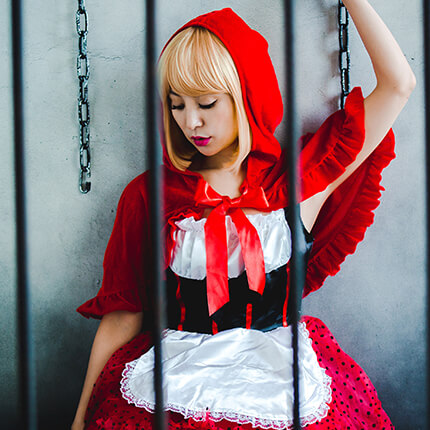 Red Food×Party Color ボブのモデル写真