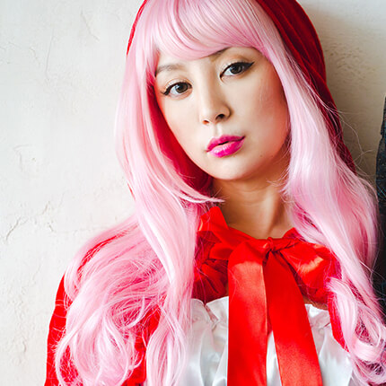 Red Food×Party Color ゆるウェイブのモデル写真
